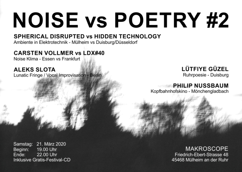 Noise vs Poetry #2 Flyer V3